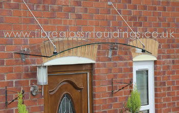 GC1070 Curved Glass Canopy with 6mm fall Hangers