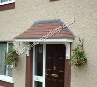 Strand Canopy & Door Canopies: GRP Fibreglass Entrance Canopies. UK Overdoor ...
