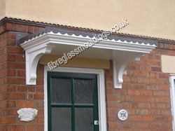 Georgian Terraced Canopy & Door Canopies: GRP Fibreglass Entrance Canopies. UK Overdoor ...