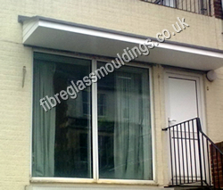 Low Profile Combination Canopy & Door Entrance Canopies u003e Residential GRP Fibreglass Overdoor/Front ...