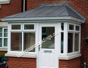 Hipped Lead Effect Square Porch Canopy & GRP Porch Canopies u0026 Tops: UK Door Porches u0026 Canopy Manufacturer