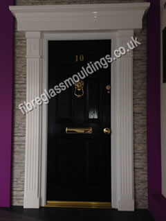 Fluted Door Surround Flat Canopy