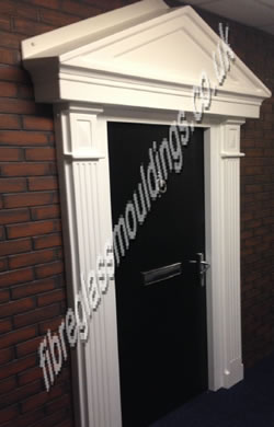 Grp Door Surrounds Pilasters Fluted Columns Ideal For Front Exterior Doors