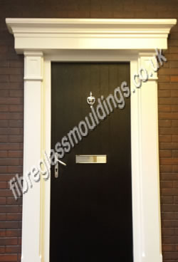 Plain Door Surround & Flat Canopy