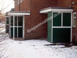 Bin Store Full Street GRP Cladding and Canopy