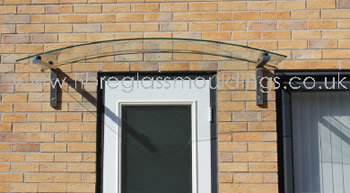 GC1087 Curve Glass Canopy 6mm Fall Gallows Glass Seal : door canopies edinburgh - pezcame.com