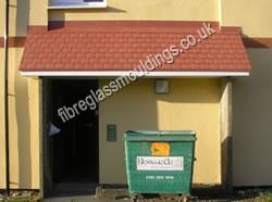 GRP Front Door Canopies > Residential Fibreglass Overdoor